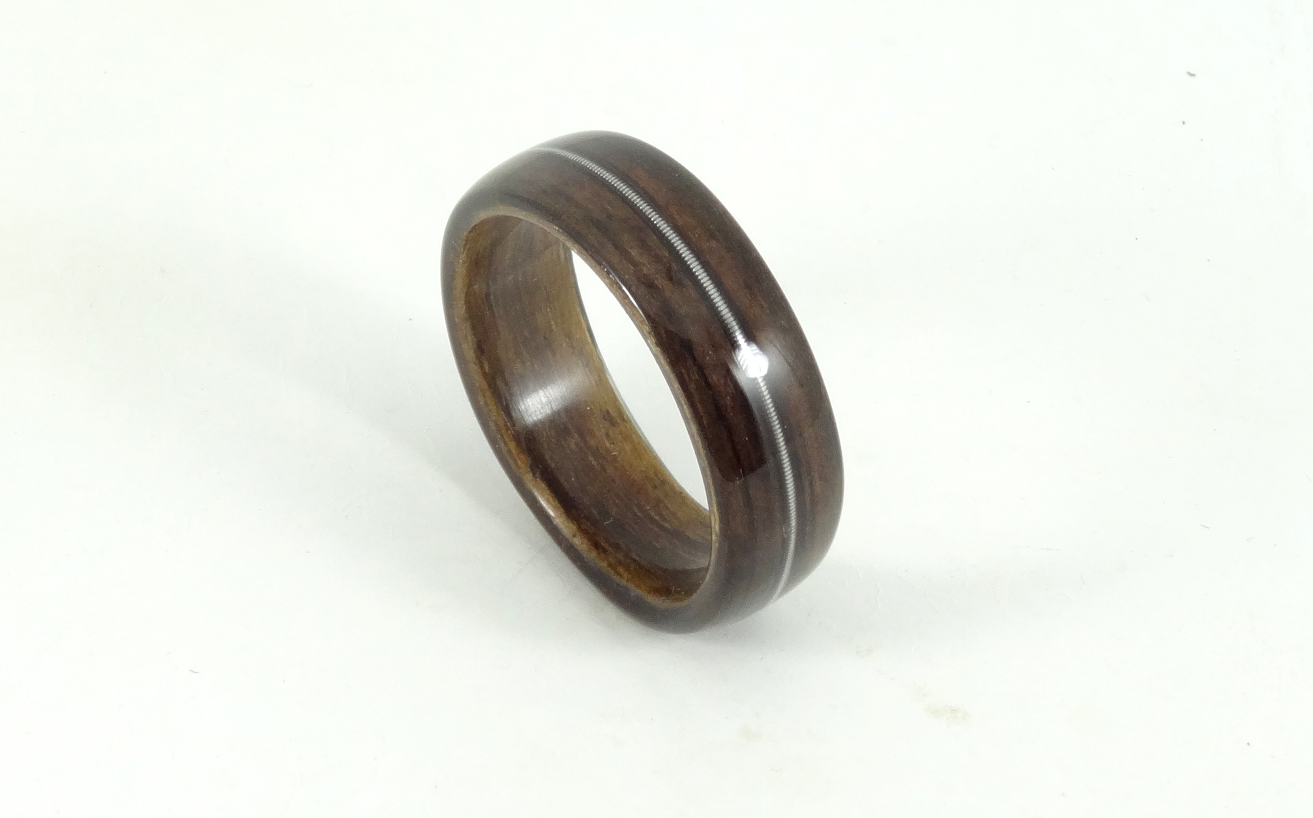 in wood stock mapleliner maple simply inlay ring with wooden liner chrysocolla rings hackberry and wedding